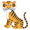 Survivormate Critter Kids Tiger Logo